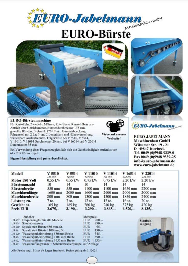 Euro Jabelmann Broschüre