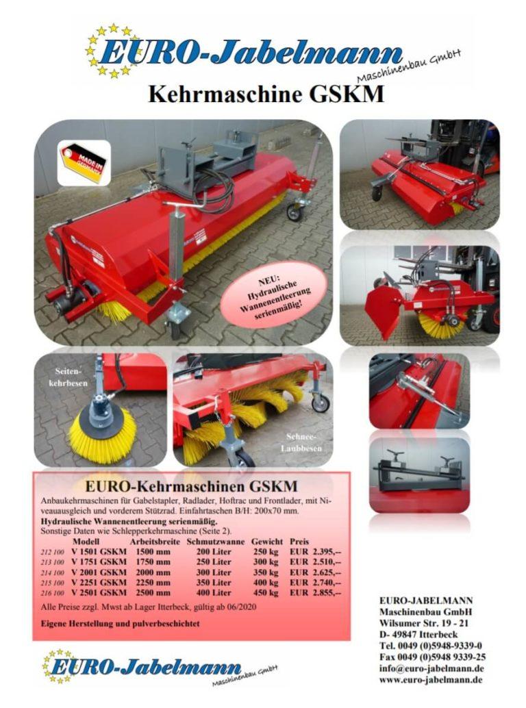 EURO-Gabelstaplerkehrmaschine Broschüre